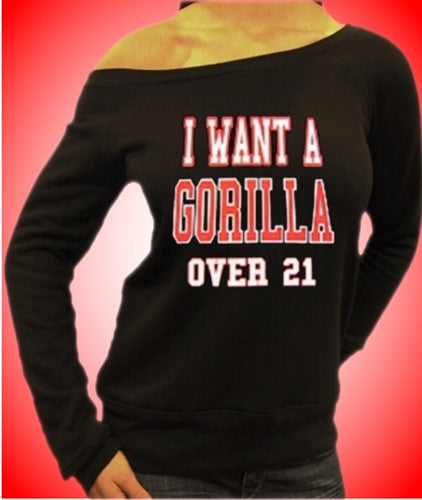 I Want A Gorilla Over 21 Off The Shoulder