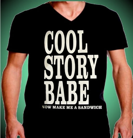 Cool Story Babe Men's V-Neck