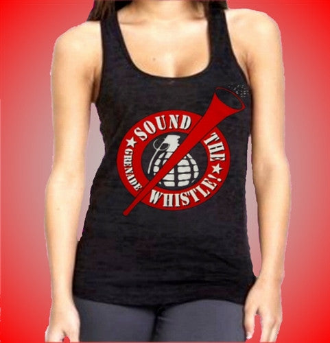 Sound The Grenade Whistle Burnout Tank Top Womens