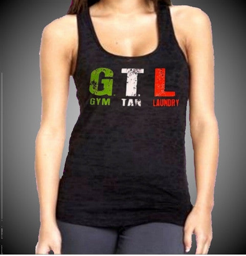 GTL Gym Tan Laundry Burnout Tank Top