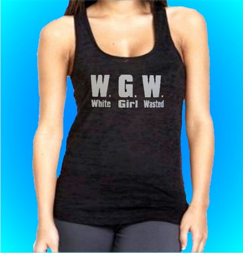 WGW White Girl Wasted Burnout Tank Top