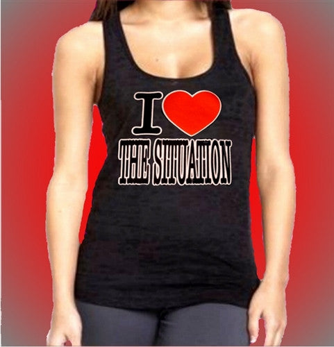 I Heart The Situation Burnout Tank Top Womens