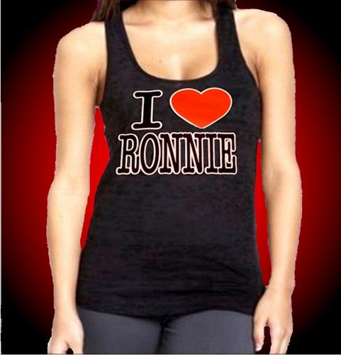 I Heart Ronnie Burnout Tank Top Womens