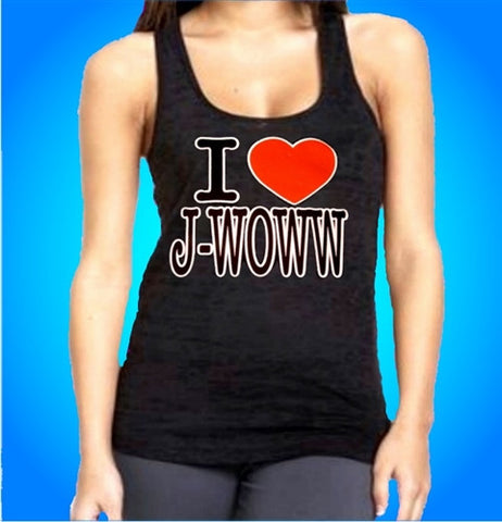I Heart J-Woww Burnout Tank Top