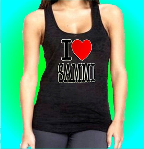 I Heart Sammi Burnout Tank Top W