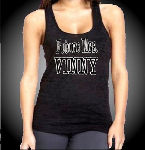 Future Mrs. Vinny Burnout Tank Top