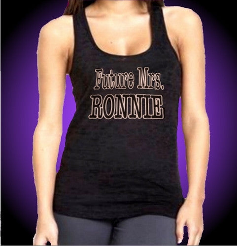 Future Mrs. Ronnie Burnout Tank Top Women's
