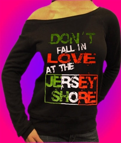 Don't Fall In The Love At The Jersey Shore Off The Shoulder