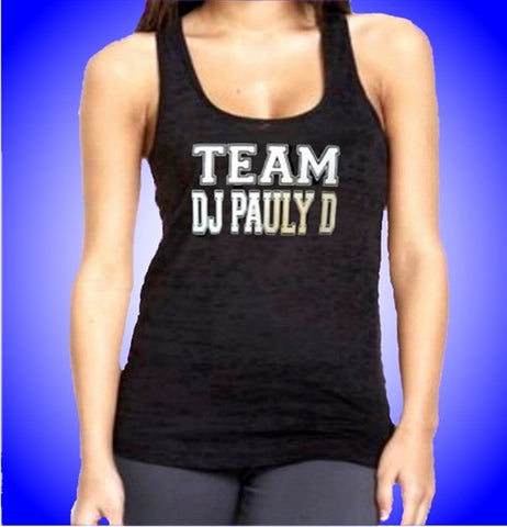 Team DJ Pauly D Burnout Tank Top  Women's