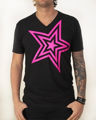 Pauly D T-Shirt Black With Pink Star