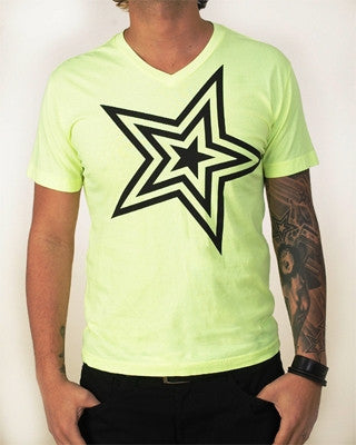 Pauly D T-Shirt Lemonade Yellow With Black Star