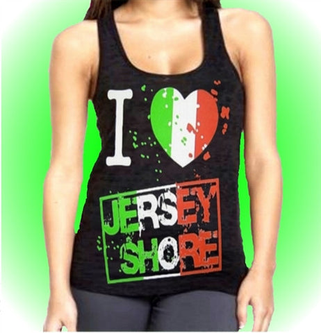 I Heart Jersey Shore Burnout Tank Top Women's