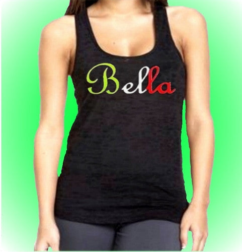 Bella Italian Burnout Tank Top Women's