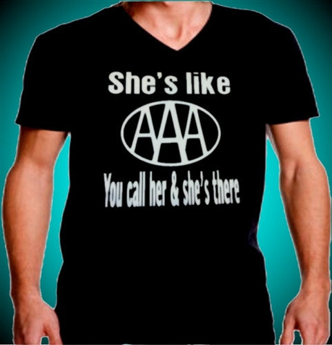 Shes Like AAA . You Call Her And Shes There V-Neck Mens