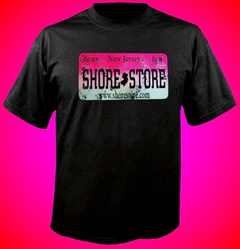 Shore Store Pink License Plate Distressed