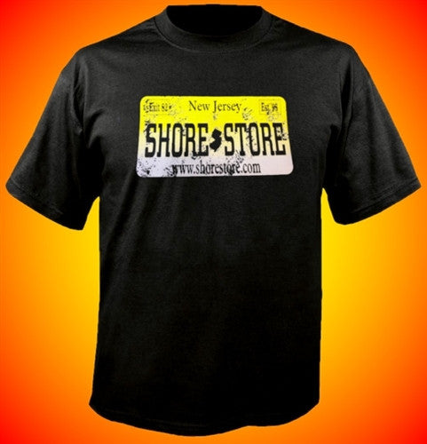 Shore Store Yellow License Plate Distressed T-Shirt