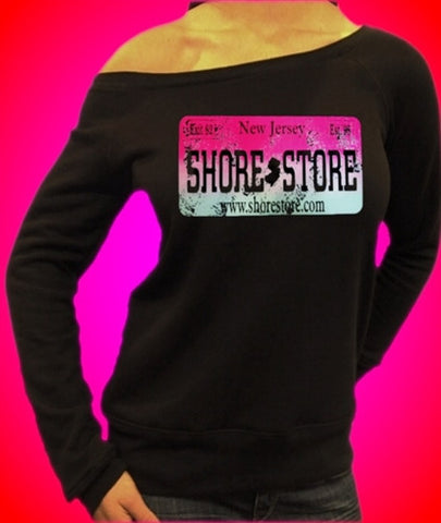 Shore Store Pink License Plate Distressed Off The Shoulder