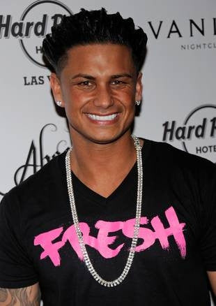 Pauly D  Pink Fresh Black V-Neck