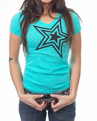 Dirty Couture Womens Tahiti Blue with Black Star