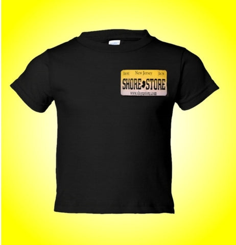 Jersey Shore Shore Store Yellow License Plate Kids T-Shirt