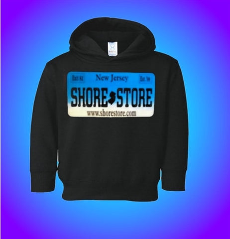 Jersey Shore Store Aqua License Plate Kids Hoodie