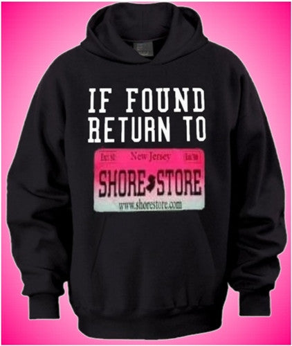 If Found Return To Shore Store Pink Plate Hoodie