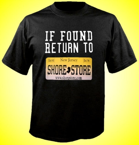 If Found Return to Shore Store Yellow Plate T-Shirt