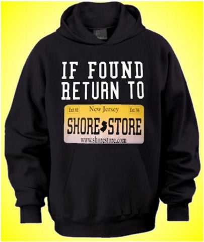 If Found Return To Shore Store Yellow Plate Hoodie