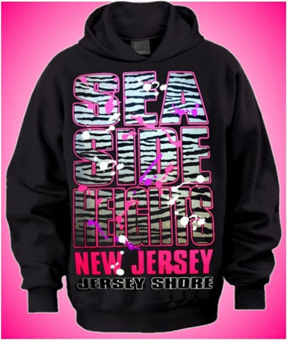 Seaside Heights Silver Zebra Hoodie
