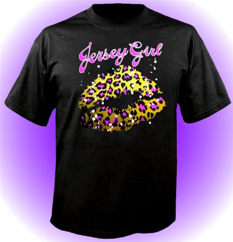 Jersey Girl Leopard Kiss T-Shirt
