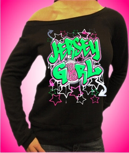 Jersey Girl Graffiti Off The Shoulder