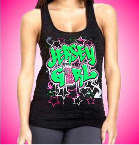 Jersey Girl Graffiti Tank Top Womens