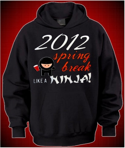Spring Break Like A Ninja Hoodie