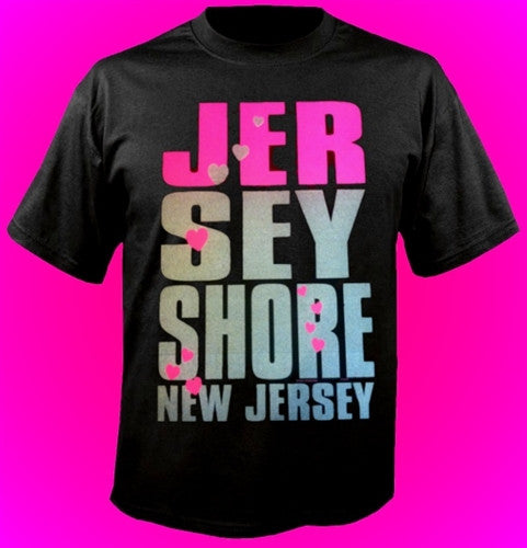 Jersey Shore NJ Pink/Silver T-Shirt