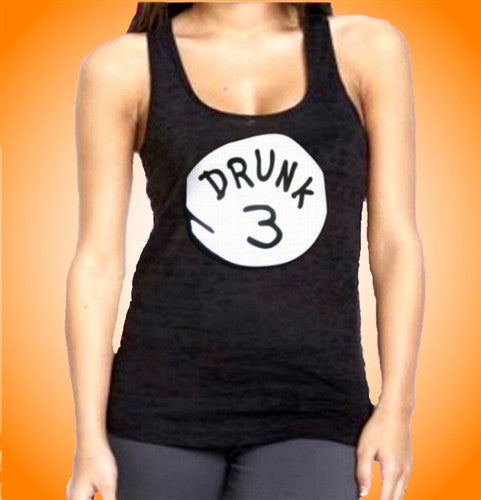 Drunk 3 Burnout Tank Top