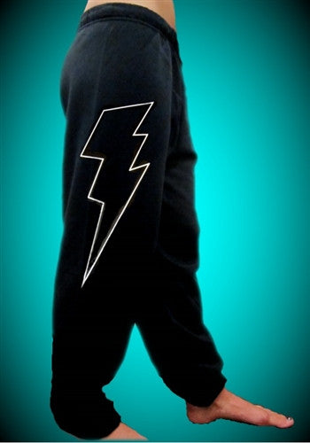 Thunder Bolt White Sweatpants