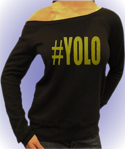 #YOLO You Only Live Once Off The Shoulder Top