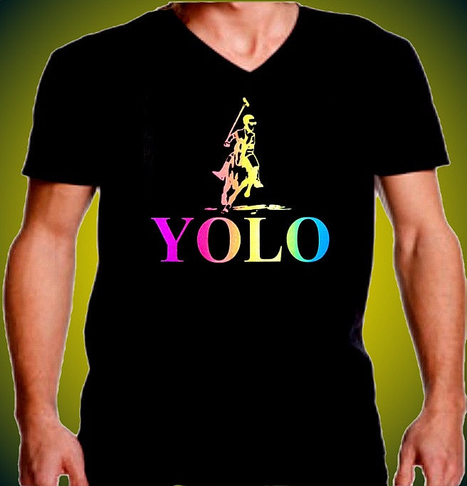 Yolo Polo Neon V-Neck