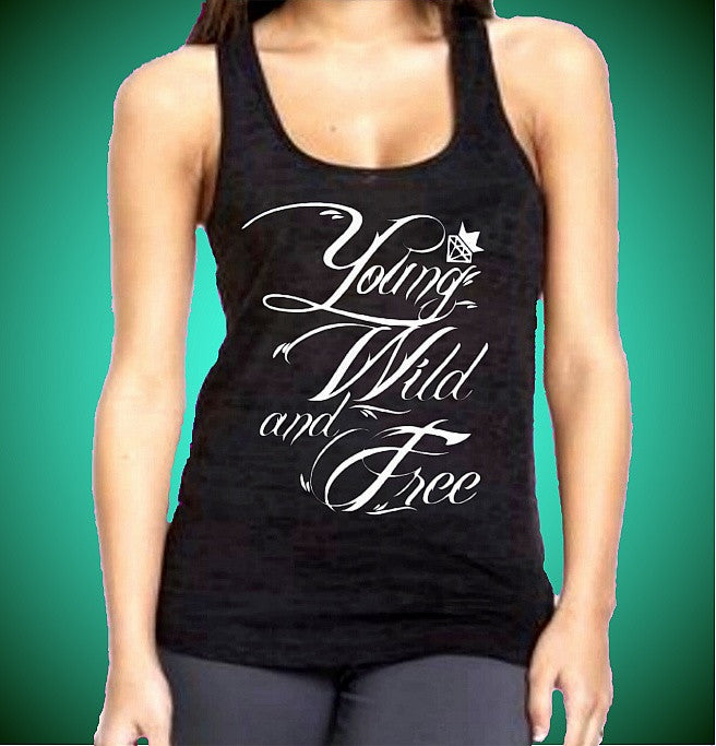 Young Wild And Free Burnout Tank Top