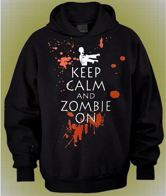 Keep Calm And Zombie On Hoodie 651