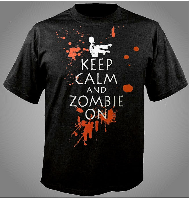 Keep Calm And Zombie On T-Shirt 651