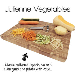 Stainless Steel Dual Julienne & Vegetable Peeler