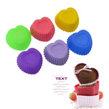 Multi-Color 12 Count Silicone Cupcake Molds - Traditional + Other Shapes!