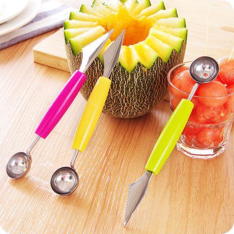 Dual Function Carver: Fruit Knife & Watermelon Scooper