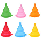 Collapsible Small Silicone Funnel - Multiple Colors