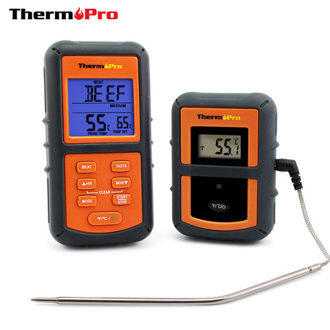 300 Foot Range Wireless Food Thermometer - Remote Includes Timer