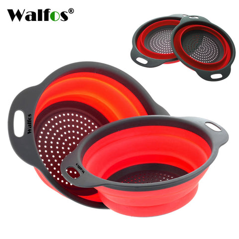 2-Piece Collapsible Colander Set - One Large Size, One Standard Size