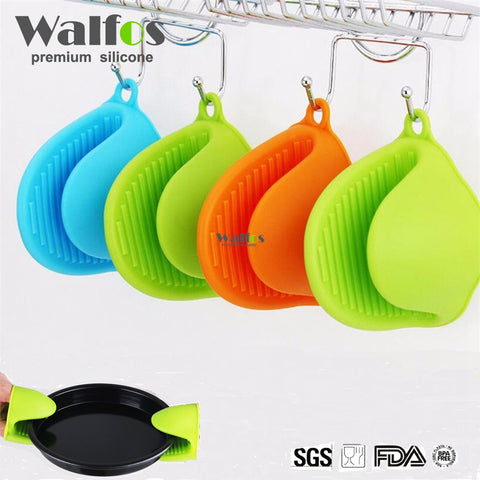 Non-Slip Grip 100% Silicone Pot Holders & Oven Mitts