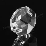14MM Chandelier Crystal Glass Octagon Bead Pendant Lamp Prisms Part Decoration acs