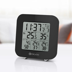 Digoo DG-TH3330 Home Comfort 3 Channels Digital In&Outdoor Hygrometer Thermometer Sensor Clock